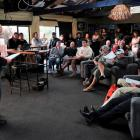 Recreational paua harvester Dr Tim Ritchie addresses a meeting in Dunedin last night. Photo by...