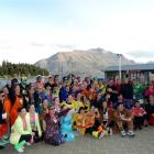 Relieved entrants in the $10 Queenstown Challenge for Cure Kids celebrate at Queenstown Bay....