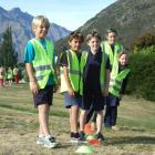 Remarkables Primary School children (from left) Fletcher Marshall, Nafe Manulea, Max Coulton and...