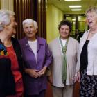 Reminiscing at a weekend reunion of nurses trained in Dunedin in 1959 are (from left) Frances...