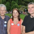 Research scientists (from left) Dr Jim Faed, Vicky Nelson and Dr Paul Turner talk about the...