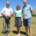 Residents of a rural-residential part of Wanaka (from left) Hugh Simmers, and Cath and Matthew...
