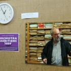 Retired but still making time for Bayfield High School music pupils, Aart Brusse is reflected in...