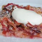 Rhubarb and amaretti tart.  Photo by Peter McIntosh.