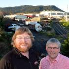 Richard Emerson (left) and Bob King, of Emerson's Brewery, at the Hall Bros and Dunedin City...