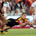 Richard Kahui of the Chiefs in action against the Cheetahs in Bloemfontein, South Africa. (Photo...