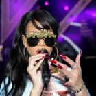 Rihanna performs at the Hackney Weekender festival at Hackney Marshes in east London last month....