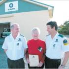 Riversdale St John Ambulance Service members Dave Hurley (left) and Steve Whitten were given 12...