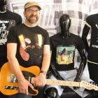 Robert Scott on the occasion of the release of a collection of Dunedin band T-shirts last year....