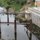 Rock under the Humber St bridge site has slowed work. Photo: Ben Guild