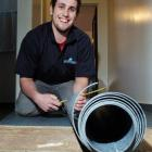 Rodney Griffiths, of Dunedin, who has been honoured as the country's top flooring apprentice....