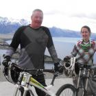 Ross  Davidson and Scarlett Hagen had the honour of the first ride on the Queenstown Bike Track...