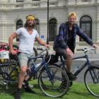 Ross Dummett (left, 25) and Adam Butterworth (24), of Bristol, spent Wednesday night in Oamaru on...