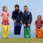 Rotary Park School pupils Orlagh Deighton-O'Flynn (11, left) and Tekahui Mariu-Boreham (6, right)...