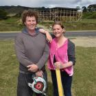 Rowan Holt, pictured with husband Brendan on their building site last December, says many...