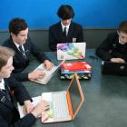 Roxburgh Area School Year 12 pupils (from left) Toby Grice (17), Jack Lennon (17), Jezreel...