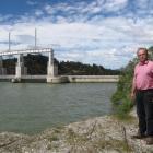 Roxburgh Gorge cycle trail trust chairman Stephen Jeffery stands near the Roxburgh Dam where the ...
