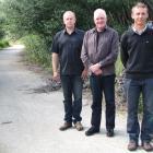Roxburgh Gorge Trail Trust chairman Stephen Jeffery, trust member Malcolm McPherson and project...