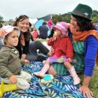 Roxy Bretton (right) with her children Nikau (4) and Kamahi Bretton (1), of Warrington, and Vicky...