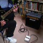 Roy Colbert in effects pedal mode. Photo supplied.