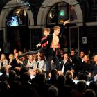 Royal New Zealand Ballet dancers take to the catwalk in  Tamsin Cooper jackets. Photo by Linda...