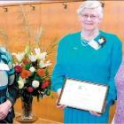 Rural Women Southland executive president Maree Lindsay (left), life membership recipient...