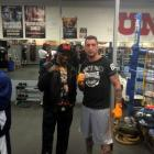 Ryan Henry with Floyd Mayweather's father, Floyd sen, in Las Vegas recently. Photos supplied.