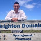 Saddle Hill Community Board chairman Scott Weatherall feels ''confident'' work on Brighton Domain...