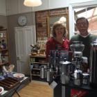 Sally and Peter Vendetti in their new homeware shop in Waimate. Photo by Sally Rae.