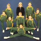Sally Hart with the Alexandra aerobics team that represented Otago at the 2011 Gymsports New...