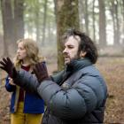 Saoirse Ronan (left) and Peter Jackson during the making of The Lovely Bones.