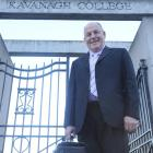 School's out for retiring Kavanagh College principal Paul Ferris. Photo by Peter McIntosh.