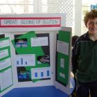 Science alive: Fairlie Primary School pupil Luke Howat (10) shows off his exhibit in the...