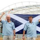 Scotland team manager Douglas Potter (left) and Scotland director of performance rugby Graham...