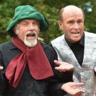 Scottish entertainers Les Morss (left) and Tim Wilcock prepare for their Dunedin Fringe Festival...