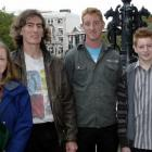 Scottish immigrants (from left) Wilma, Paul, Gary (26) and Ewan (16) Baker after this week's...