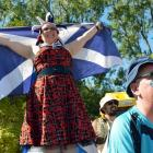 Scottish supporters  Maxine Rhodes, of Christchurch, and Stephen Massie, from Mauchline in East...