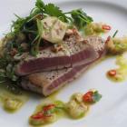 Seared tuna with feijoa salsa. Photos by Monique Smith.