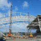 Security has been stepped up at the Forsyth Barr Stadium worksite after an intruder moved a large...