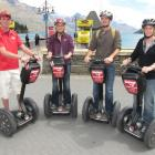 Segway on Q guide Chris Williams, of Queenstown (left), with clients (from left) Letty van der...