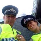 Senior Constable Kerry Fegan and Constable Kristyn Adamson, of Dunedin, take a selfie on an...