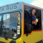 Senior library assistant David Kellett with the bookbus at Willow Park, Cedar Cres,  in Mosgiel,...