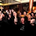 Serenading at Speight's Brewery in Dunedin yesterday are Spooky Men's Chorale members, some...
