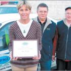 Serving the community: South Dunedin Community Patrol member Claire Metcalfe (left), pictured...