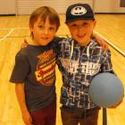 Seven-year-old twins  Archie (left)   and Brodie Donovan.