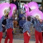 The Yeupu Drum group from Shanghai performing in the Octogon. Photo by Craig Baxter.