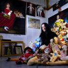 Artist Sharon Singer surrounded by work fropm her upcoming exhibition. Photo by Craig Baxter.