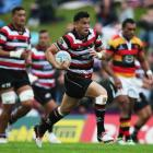 Sherwin Stowers in action for Counties against Waikato in Pukekohe today. Photo Getty Images