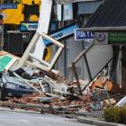 Shops in Manchester St damaged by the Christchurch earthquake.