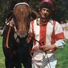 Show Gate and jockey Bob Skelton after winning the 1977 Trentham Stakes. Photo from New Zealand...